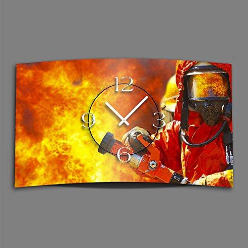 Cuerpo de Bomberos de reloj de pared de...