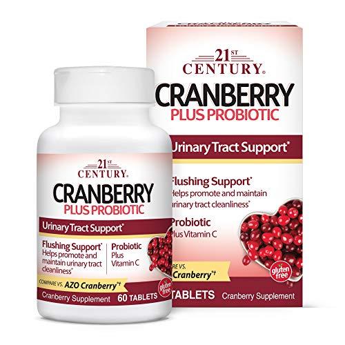 21st Century Cranberry Plus Probiotic Tablets, 60 Count