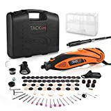 TACKLIFE Mini Outil Rotatif Electrique - 135W Mini Meuleuse Set Haute Performance avec Arbre Flexible & Guide de Coupe &...