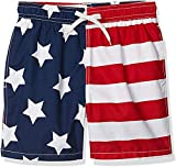 Kanu Surf Men's Monaco Swim Trunks, USA American Flag, Large
