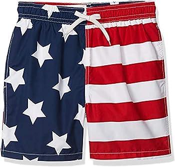 Kanu Surf Men s Monaco Swim Trunks  Regular & Extended Sizes  USA American Flag Medium