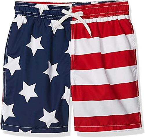 Kanu Surf Herren Monaco Swim Trunks (Regular & Extended Sizes) Badehose, USA-Flagge, Small