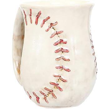 DEI 30137 Cozy Hand Baseball Mug, 18 Ounces, White