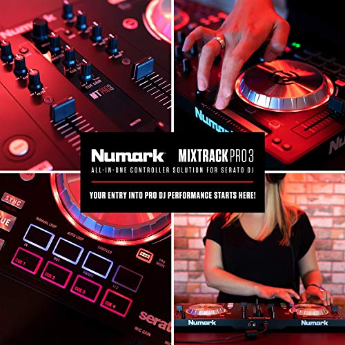 Numark Mixtrack Pro 3 | All-in-One DJ Controller for Serato DJ with onboard...