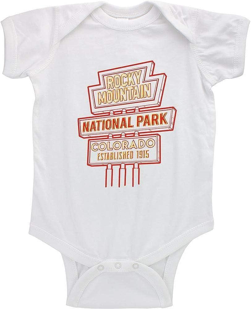 Reto Rocky Mountain National Park Neon Sign Infant Bodysuit