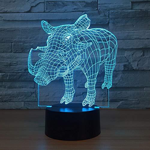 Neue Eber sieben Farben berühren 3D Kids Gift kreative Desktop energiesparende 3D Kids Gift LED Tischlampe Nachtlicht Weihnachtszimmer