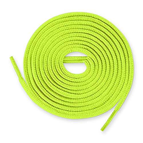 Lace Kings Oval Shoelaces (Neon Yellow - 54in)
