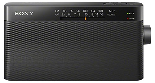 Price comparison product image Sony ICF-306 Portable AM / FM Radio - Black