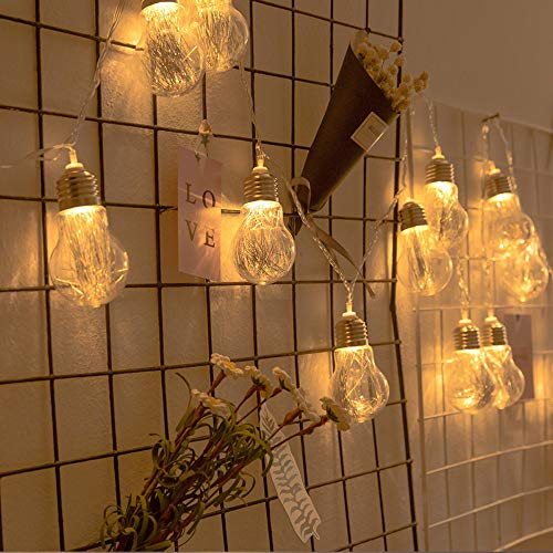 Fairy Lights,String Lights,LED Fairy String Lights,Waterproof,Warm White,Flexible Copper Wire Firefly Light,for Girls/Boys Bedroom,Wall,Wedding Birthday Party,Christmas,Tent Decoration,Globe Lights,