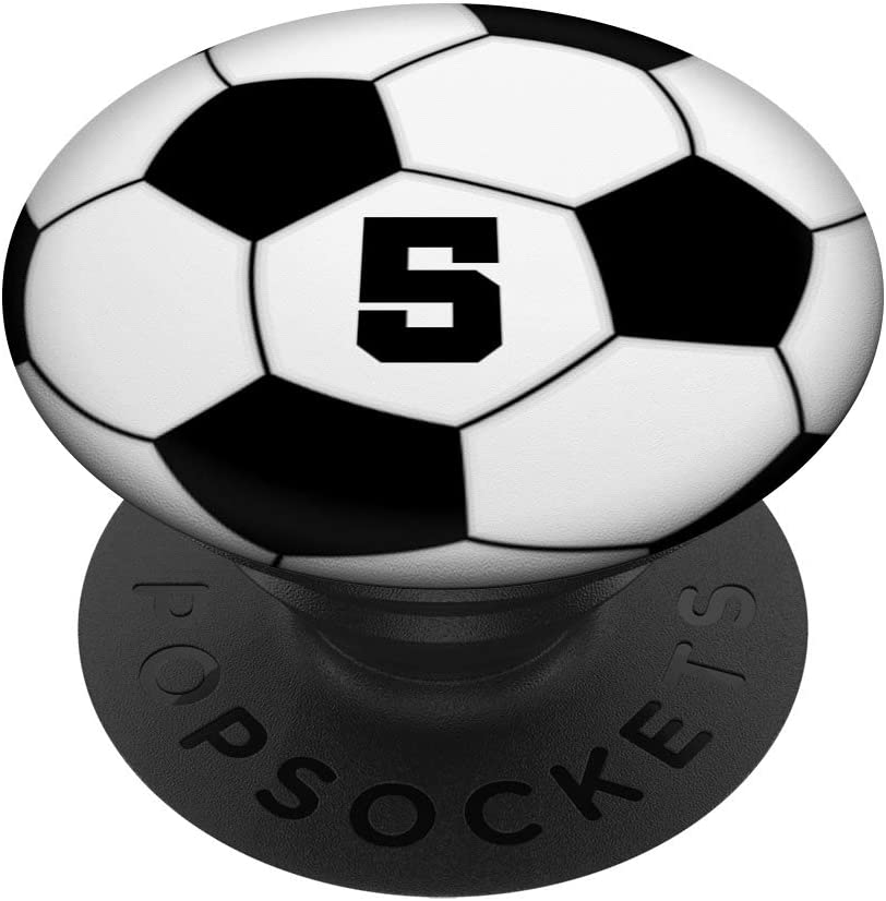 PopGrip with Swappable Top for Phones and Tablets PopSockets Soccer Ball