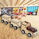 Elektrisches DIY Zug Modell Naturholz Physikalisches Experiment Spielzeugeisenbahn Modell für Kinder ideales Geschenk