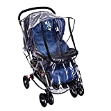 Universal Baby Travel Transparent Clear Stroller Rain Cover Waterproof Umbrella Stroller Wind Dust Shield Cover with Zipper for Protector Baby Accessories
