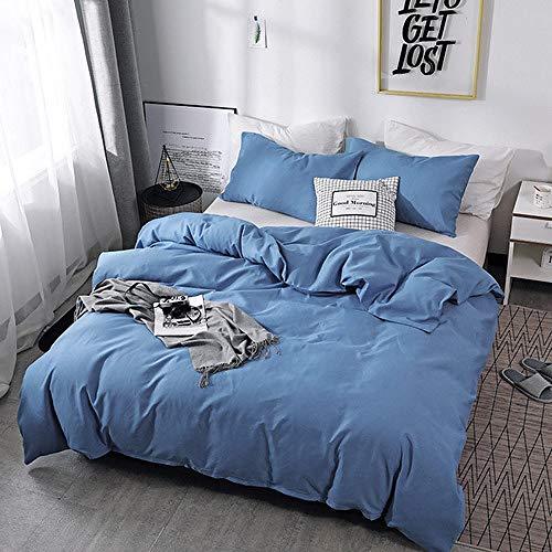 LOIKHGV Pure Color Bedding Set Cotton Duvet Cover Pillowslip Twin/Queen/Set New Three Pcs,1,EU,double 200x200
