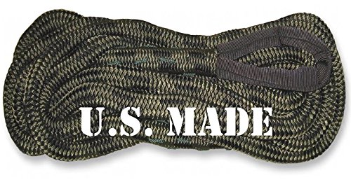 BILLET4X4 U.S. Made 5/8 inch X 20 ft CAMO Kinetic Snatch Rope - UTV/ATV Vehicle Recovery
