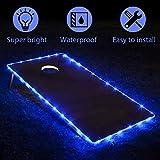 TongYu Set of 2 Cornhole Board Edge Night Lights,Light Up LED Lighting Cornhole Boards Kit, Long Lasting (72+ Hours) Great for Tailgates Backyard/Lawn Wedding BBQ & More!(Blue)