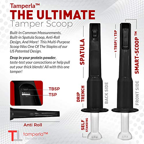 Blender Tamper for Vitamix 64 ounce containers (black)