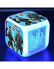 Orlando MR Despertador Digital Luces-Despertador Infantiles Relojes Despertadores 8 Sonidos 7 Colores Wake-Up Light Regalo para Niños Niñas,F