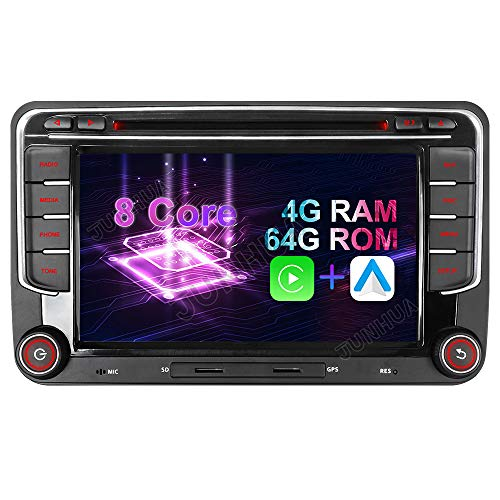 Android 10 Octa-Core 4 + 64 GB integrado Carplay + Android Auto DSP DVD GPS Radio de coche navegación para VW Passat B6 Golf 5 6 Touran Tiguan Multivan T5 Polo Caddy Skoda Seat DAB+ WiFi 4G OB