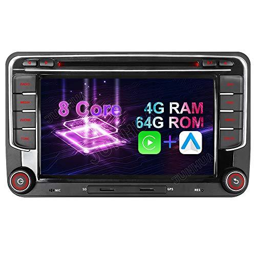 Android 10 Octa-Core 4 + 64 GB integrado Carplay + Android Auto DSP DVD GPS Radio de coche navegación para VW Passat B6 Golf 5 6 Touran Tiguan Multivan T5 Polo Caddy Skoda Seat DAB+ WiFi 4G OBD+