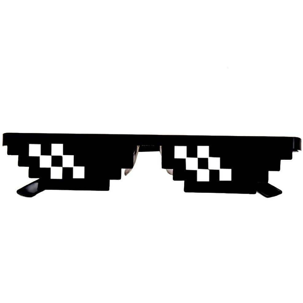 パケットミュウミュウであることAliciga モザイクサングラス メガネ レンズあり PC 3格 6格 ブラック UVカット おもしろ 二次元メガネ コスプレ 海外人気 ダンス発表会 パーティー 一発芸 イベントグッズ 個性派サングラス 騙されたメガネ いたずら おもちゃ (6格)