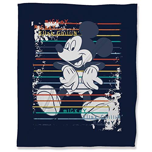 ARYAGO - Manta de microfibra suave y esponjosa (130 x 180 cm), diseño de Mickey Mouse
