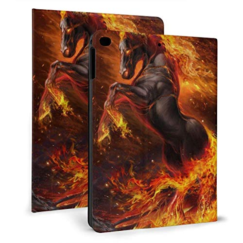 HleHjum Schutzhülle für iPad Air 1 / 2 (24,6 cm / 9,7 Zoll), schlankes Design, leicht, Standfunktion, Braun / Schwarz