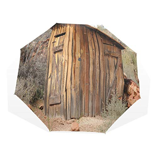 LASINSU Regenschirm,Outhouse alte Olivenbäume drucken,Faltbar Kompakt Sonnenschirm UV Schutz Winddicht Regenschirm