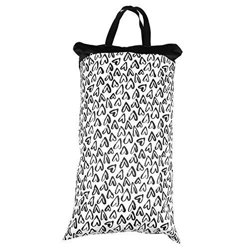 Bolsa de pañales impermeable con doble cremallera para bebés, material de poliéster y TPU, bolsa de pañales, bolsa de pañales seca y húmeda para bebés y niñas(EF240)