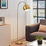 Lámpara de pie LED 'Moisia' en Dorado hecho de Metal e.o. para Salón & Comedor (1 llama, E27, A++) de Lindby   lámpara de pie LED
