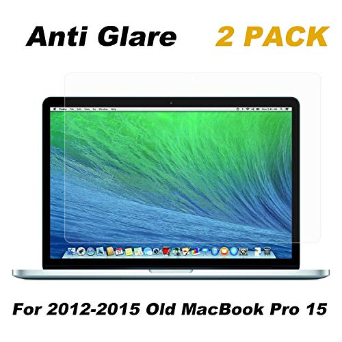2 Pack FORITO Anti Glare Screen Protector Compatible MacBook Pro 15' 2012-2015 Model A1398