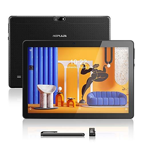 Android Tablet 10.1 Zoll, Android 8.1, Quad Core CPU, Dual SIM Card, 2GB+64GB, IPS HD (1280 x 800), 3G Tablet Pad mit Zwei SIM Kartensteckplätzen, WiFi/WLAN/Bluetooth (Black)