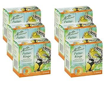 Dehner Lot de 6 Anneaux de Nourriture Natura pour Oiseaux Sauvages 900 g 6x3