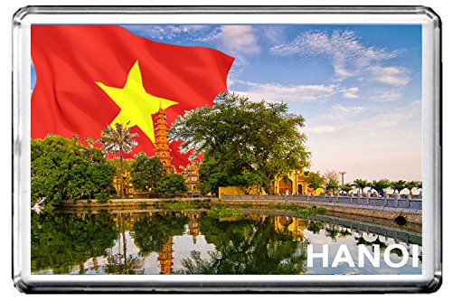 HANOI FRIDGE MAGNET 002 THE CAPITAL CITY OF VIETNAM MAGNETICA CALAMITA FRIGO