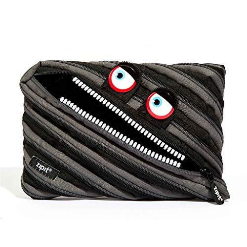 ZIPIT Wildlings Big Pencil Case/Cosmetic Makeup Bag, Black