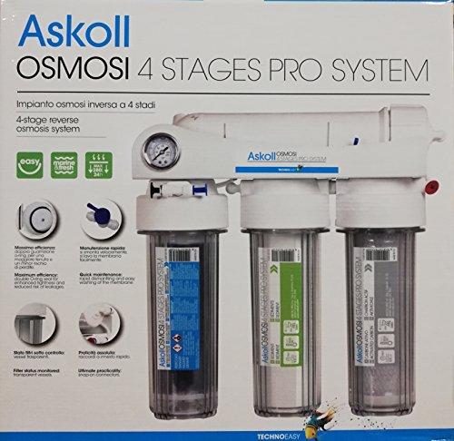 Askoll 001740 Impianto osmosi inversa 4 STADI PRO SISTEM per acquari