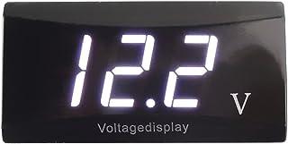 mewmewcat Medidor de painel com tela LED digital 12V Voltímetro para carro Medidor de voltagem para motocicleta Medidor de...