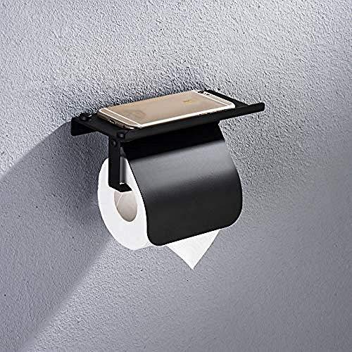 JJZXD Bienes Vivos Portarrollos Papel higiénico portarrollos Papel higiénico Montaje en Pared con Estante para teléfono Grifo baño Accesorios baño OSM8