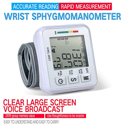 Skudgear Portable and Intelligent Automatic Talking Electronic BP (Blood Pressure) Monitor Wrist Sphygmomanometer
