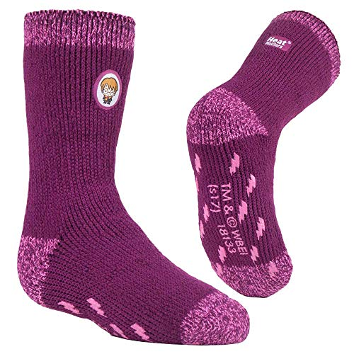 HEAT HOLDERS - Hombre, Mujer y Niño Harry Potter Invierno Calientes Calcetines Antideslizantes (Kids: 27/31, Girls Harry Potter)