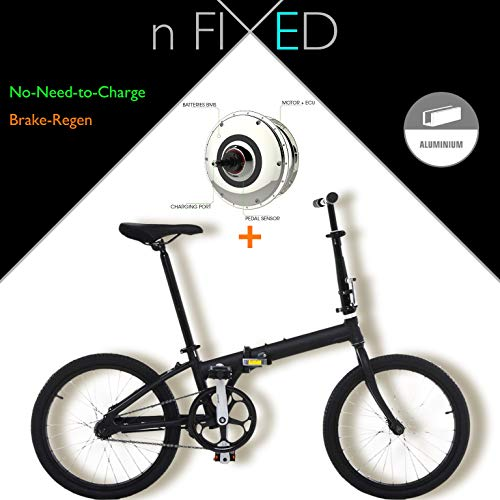 "nFIXED.com ""e-Bike+ Folding"" No-Need-to-Recharge Zehus Electric Bicycle"