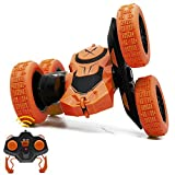 Mostop Remote Control Car RC Stunt Car, 2.4GHz 4WD Double Sided Rotating Tumbling Truck 360 Degree Rotation High Speed Rock Crawler Vehicle Toy for Kids