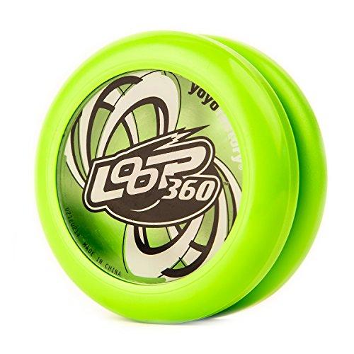 YoyoFactory Loop 360 Yo-Yo - Vert (Idéal pour Les débutants, Jeu Yoyo Moderne , Roulement à Billes en Métal, Ficelle Et Instructions Incluses)