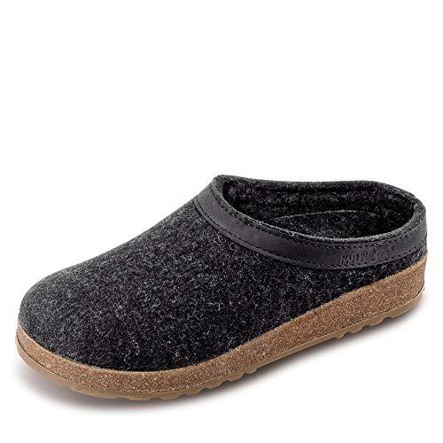 HaflingerTorben - Pantofole Donna, Grigio (Grau/graphit), 43