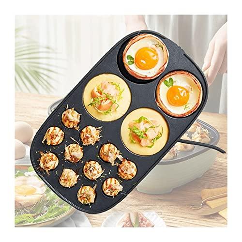 Takoyaki Pan de hierro fundido 2 en 1 Mini plancha de panqueques antiadherente fácil y simple de operar máquina eléctrica adecuada (Color : A)