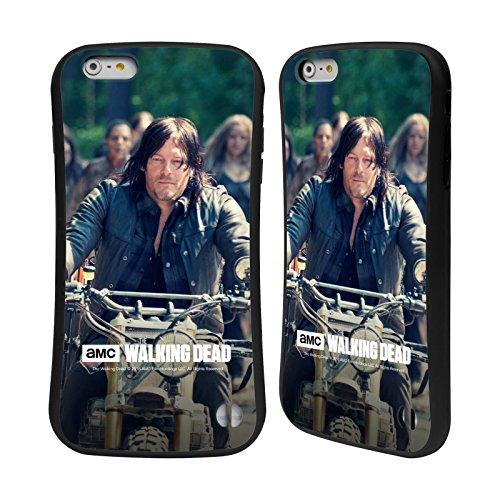 Oficial AMC The Walking Dead Paseo En Bicicleta Daryl Dixon Carcasa híbrida Compatible con Apple iPhone 6 Plus/iPhone 6s Plus