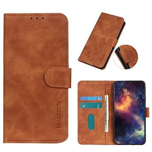 Coque Textura Vintage Carcasa de telefono para Samsung Galaxy A01 Core(Marrón)