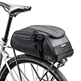 <span class='highlight'><span class='highlight'>Achort</span></span> Bicycle Rear Rack Bag, 8L Multifunctional & Waterproof Bike Rack Seat Bag Bike Saddle Bag Outdoor Bicycle Pannier Trunk Shoulder Handbag Bag(Black)