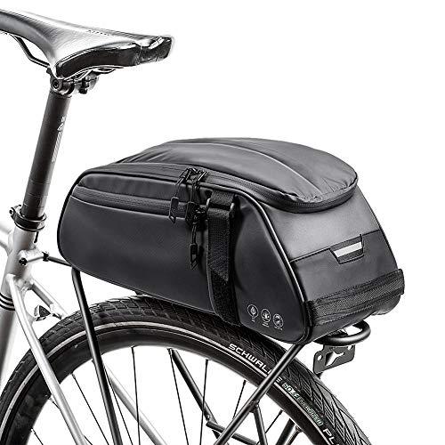 Achort Bici Borsa Posteriore Cremagliera Pacchetto Zaino Multifunzionale Custodia Impermeabile per Sacchetto Impermeabile 8L per Mountain Bike Bicicletta Ciclismo MTB