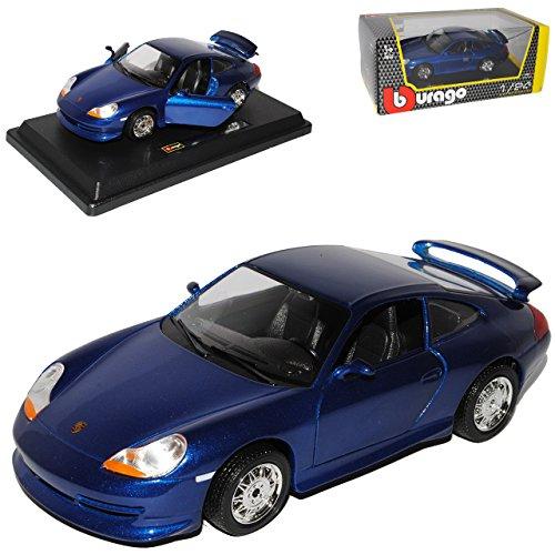 Bburago Porsche 911 996 GT3 Coupe Blau 1997-2004 1/24 Modell Auto