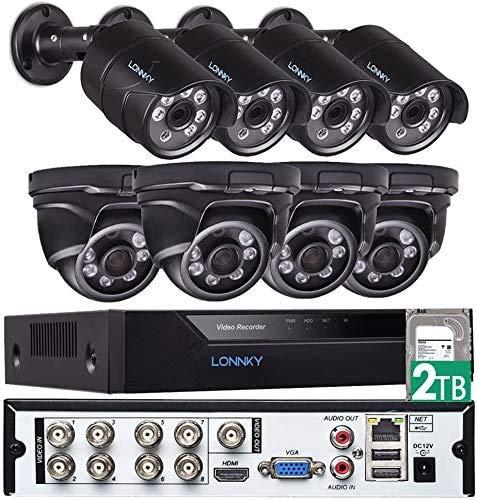 Tonton 8CH Full HD 1080P TVI Sistema de videovigilancia Grabadora DVR HDMI con 8 x 1080P Cámara de Seguridad para Exteriores, 20M de visión Nocturna, Posible grabación de Sonido sin HDD 🔥
